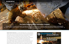 Baldwin Metals website designed by Gaddy Web Design