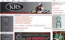Kart Racing  Solutions website designed by Gaddy Web Design