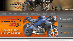 Barkers Performance Exhaust website designed by Gaddy Web Design